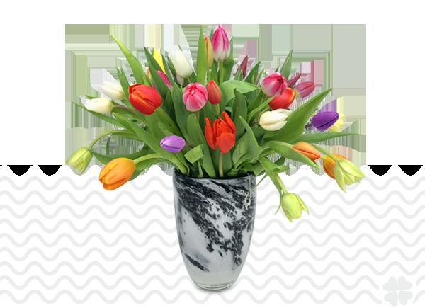 blauwetulpenvaas tulpen