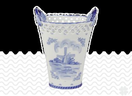 Langwerpige-tulpenvaas-Delfts-blauw